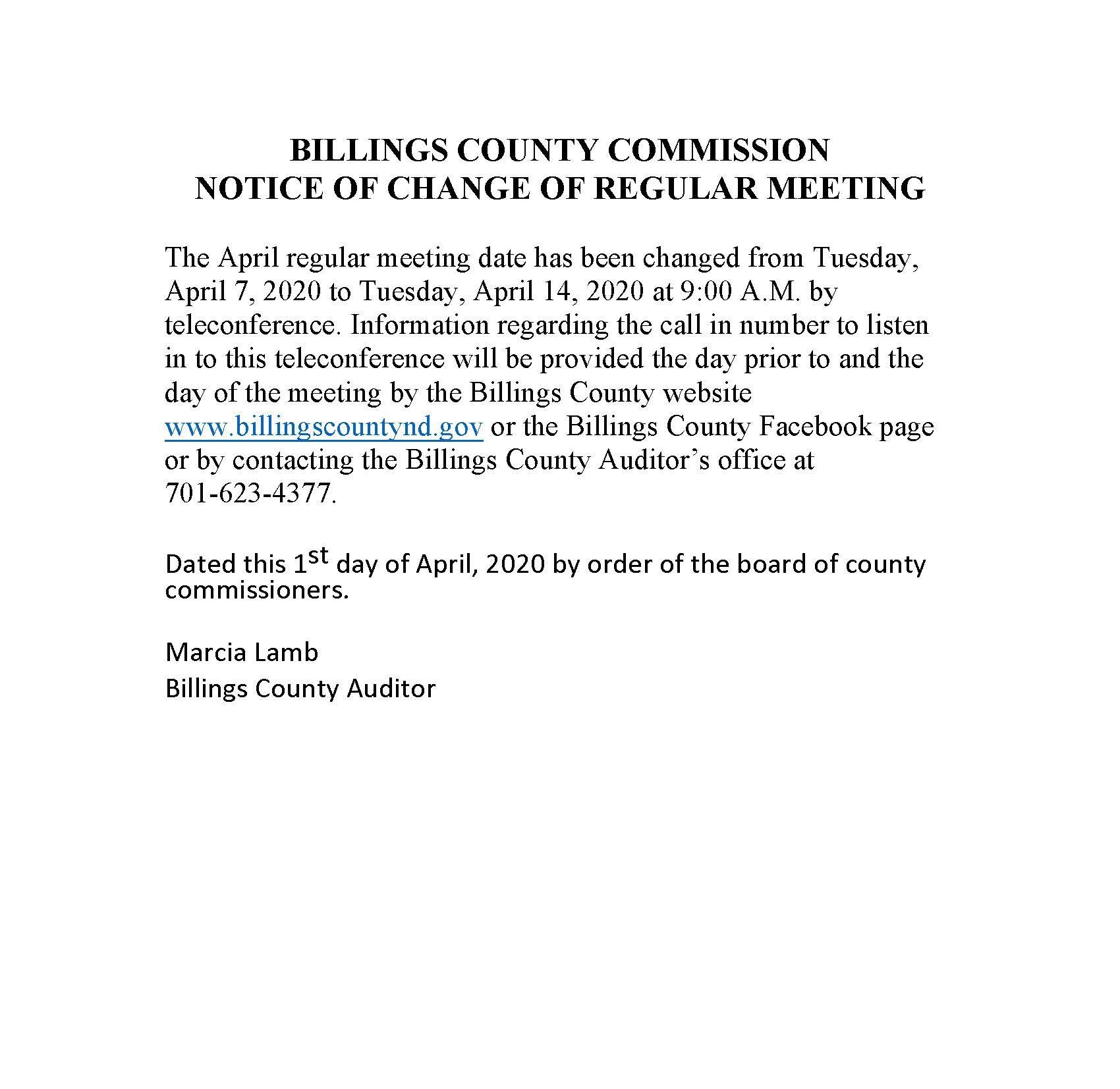 Notice of Change of Meeting April 2020 (JPEG)