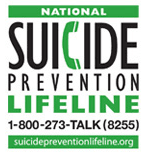 Suicide Prevention Hotline - Call 1-800-273-8255 for Assistance